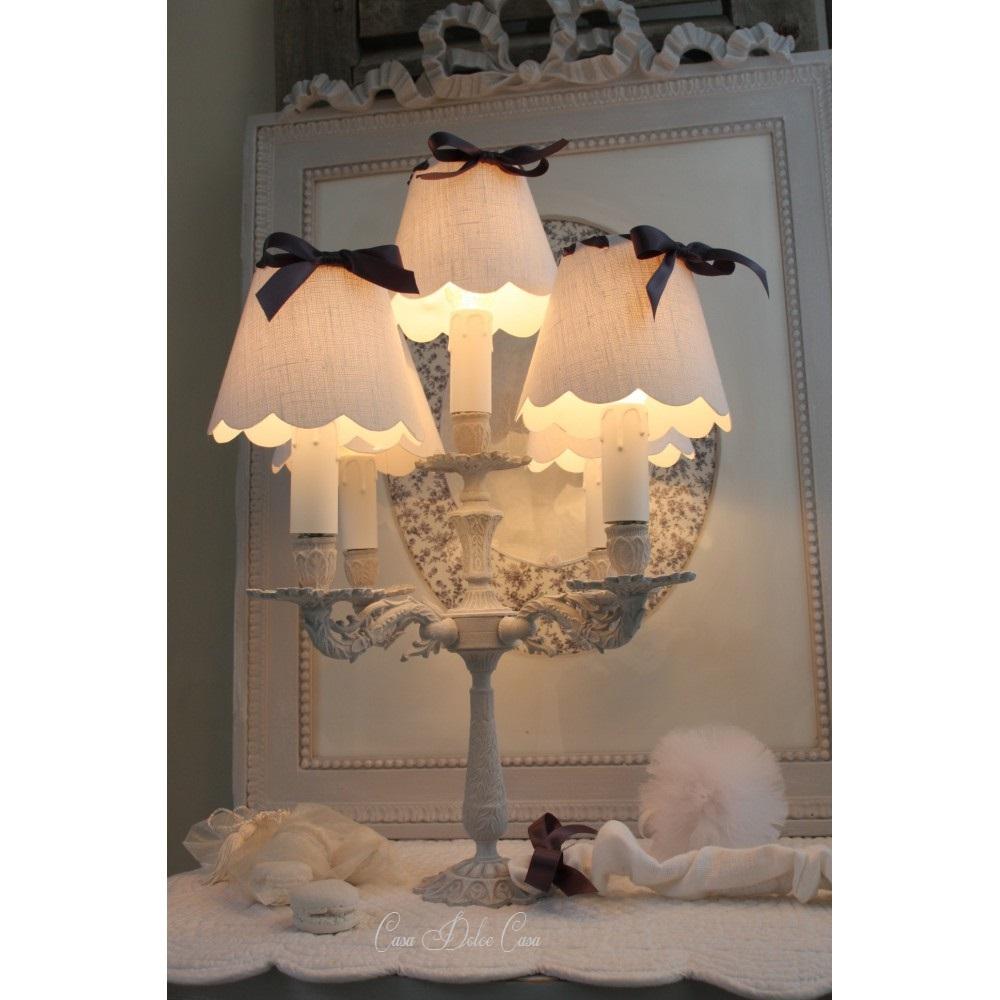 画像2: フランスアンティーク 5灯ランプスタンド