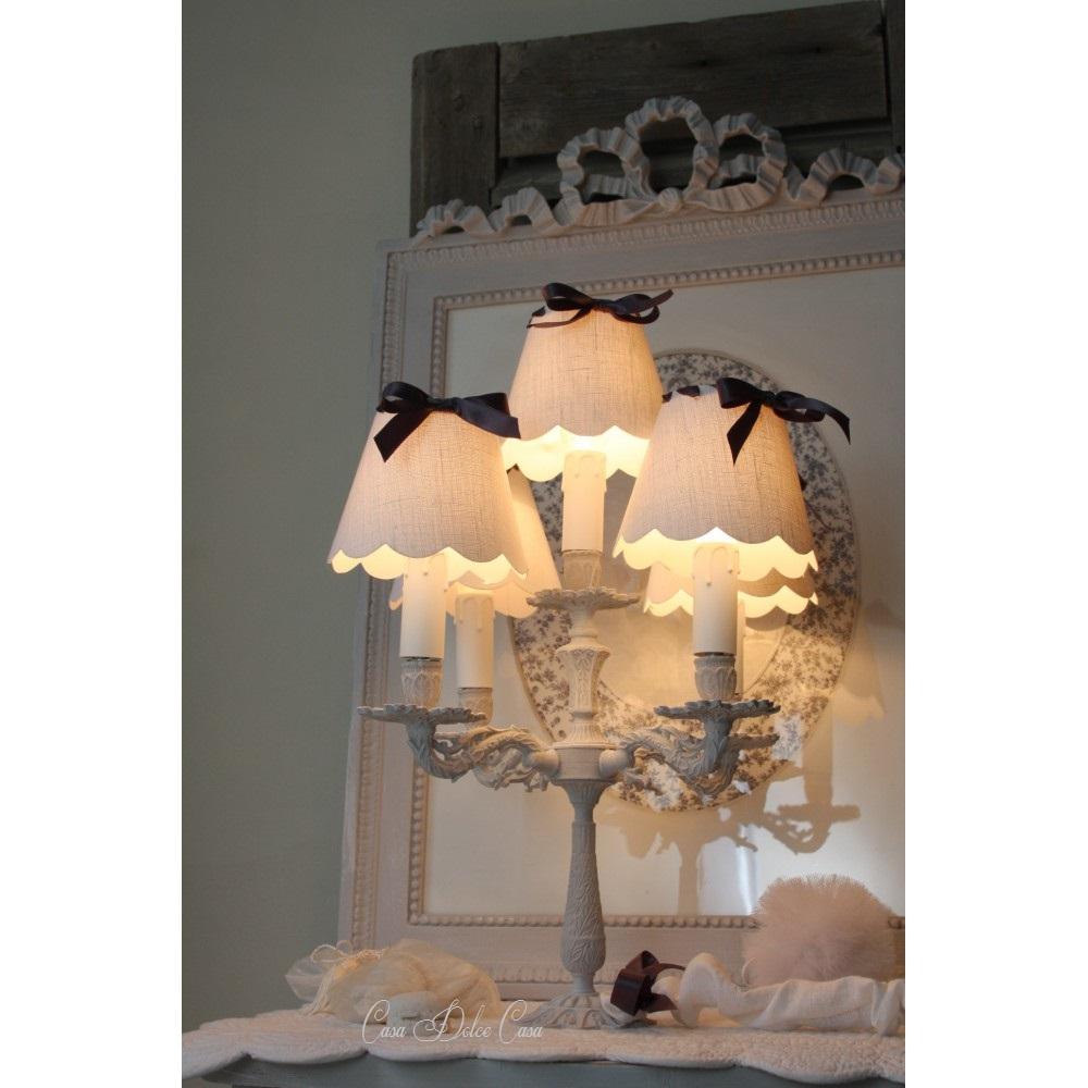 画像1: フランスアンティーク 5灯ランプスタンド