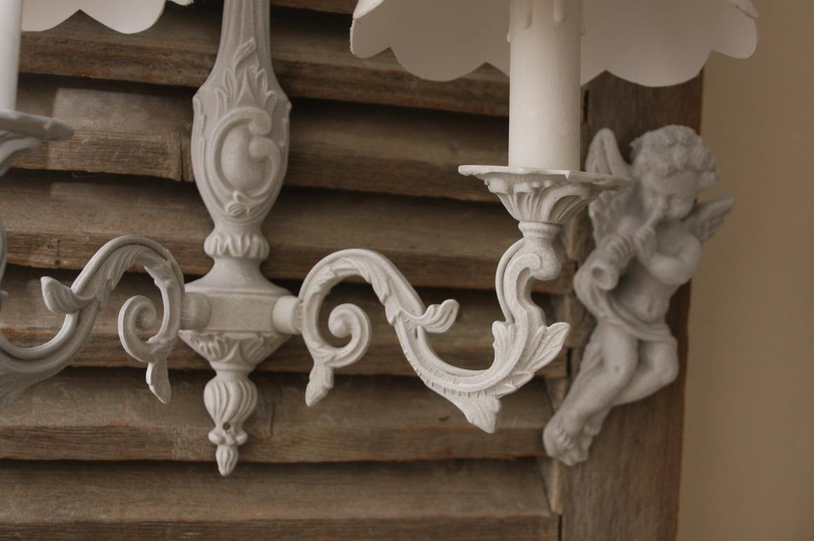 画像2: フランスアンティーク ルイ15世スタイル 2灯ウォールランプ 【SALE】