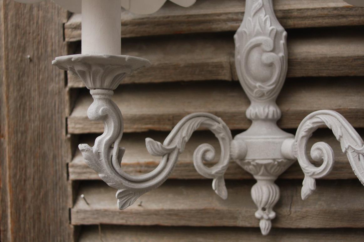 画像3: フランスアンティーク ルイ15世スタイル 2灯ウォールランプ 【SALE】