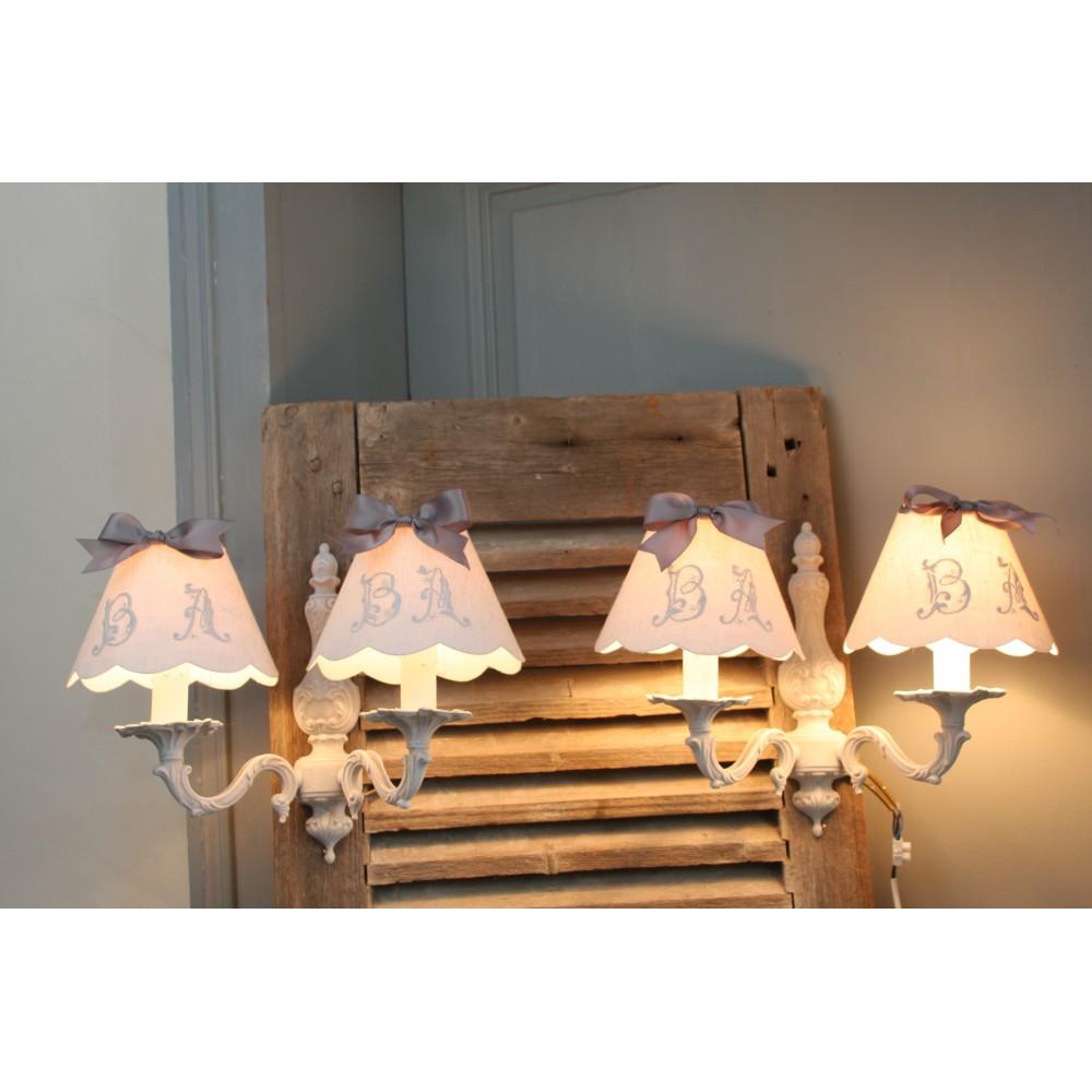 画像1: フランスアンティーク ルイ15世スタイル 2灯ウォールランプ