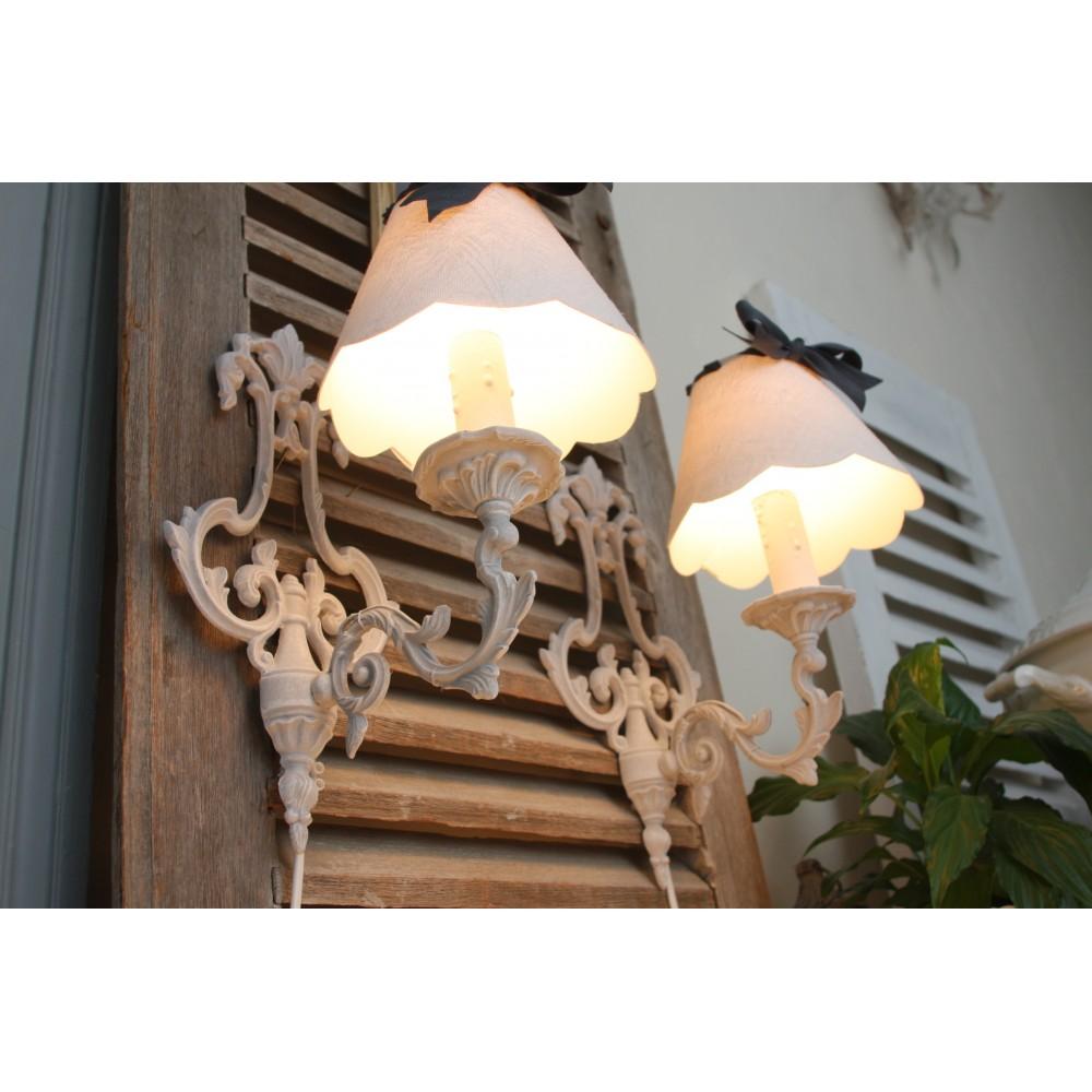 画像1: フランスアンティーク 1灯ウォールランプ